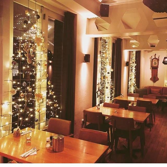 Grand Café met kerst